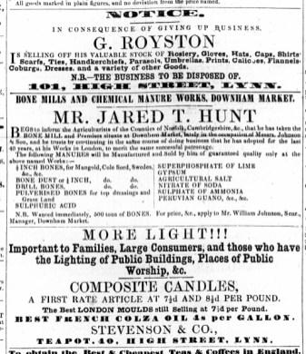 1860 March 10th Stevenson & Co @ No 40