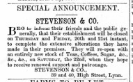 1865 July 15th Stevenson @ Nos 39 & 40