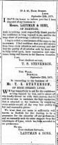 1875 October 2nd Stevenson @ Nos 39 & 40