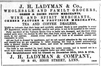 1888 Dec 15th J H Ladyman @ Nos 39 & 40