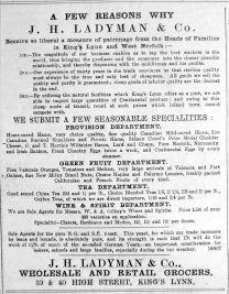1892 Aug 6th Ladymans