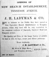 1903 July 17th Ladymans open branch