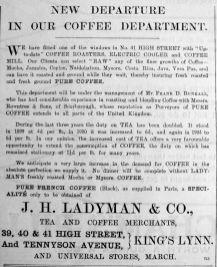 1904 Oct 14th Ladymans coffee dept