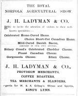 1910 June 16th Ladymans Nfk Show