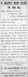 1918 Dec 27th Ladymans