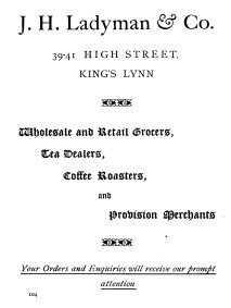 1924 Ladymans (Holcombe Ingleby Treasures of Lynn)