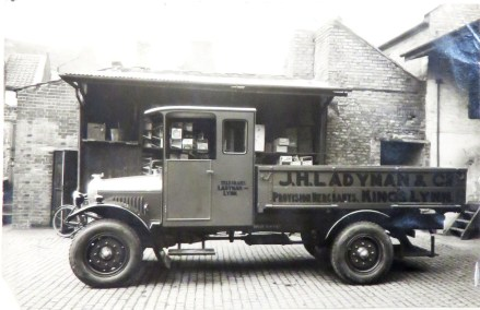 1925 New wholesale delivery lorry Ladymans Archive (Ashley Bunkall)