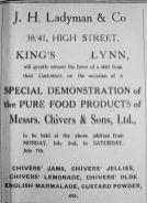 1928 July 6th J H Ladyman