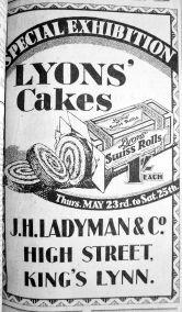 1929 May 24th Ladymans Lyons cakes