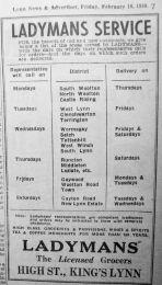 1950 Feb 10th Ladymans