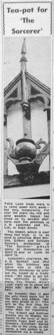1964 Apr 17th the Teapot