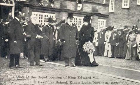 1906 Nov 5th King Edward VIII opening Grammar School (see Elizabeth Billing)