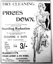 1932 June 10th Barretts dry cleaning