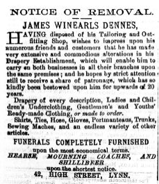 1875 Sept 11th James Winearls Dennes