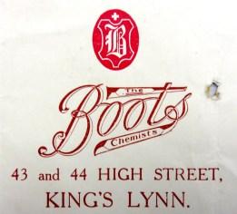 1918 April 6th Boots