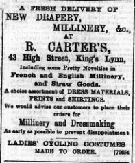 1896 May 23 R Carter @ No 43