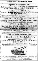 1860 Oct 6th Fysh & Dales dissolution @ No 46