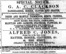 1867 30th November Alfred Jones @ No 46