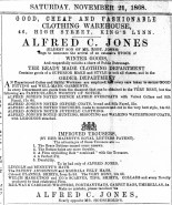 1868 Nov 21st Alfred C Jones @ No 46