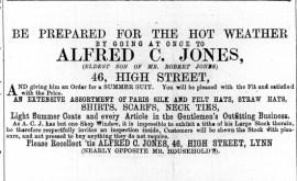 1869 May 22nd Alfred C Jones @ No 46