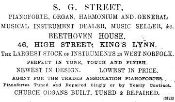 1892 Jan 2nd SG Street @ 46