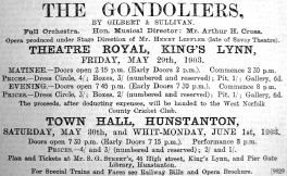 1903 May 22nd Streets agent Theatre Royal