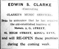 1939 Oct 20th Clarkes takes over Streets