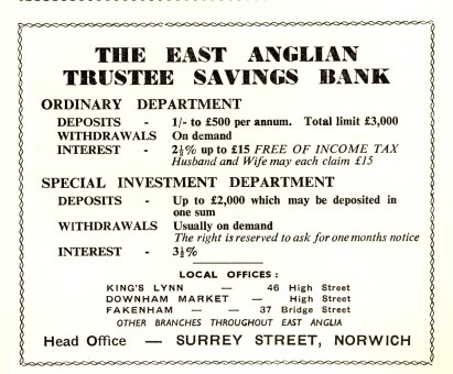 1957 KL Festval Prog Trustee Savings Bank @ No 46