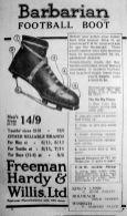 1926 Aug 27th Freeman Hardy & Willis