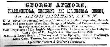 1885 Lynn News Almanack Atmore