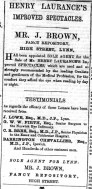 1875 December 11th J Brown & Henry Laurance @ No 49