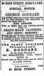 1896 Jan 11 George Goddard @ No 49