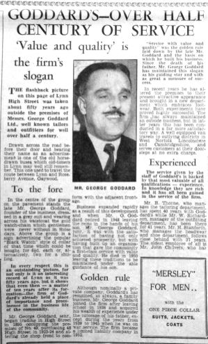 1955 Dec 9th George Goddards 50th anniversary