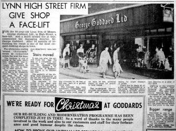 1961 Dec 1st George Goddards shop face-lift