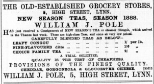 1888 July 7th William J Pole @ No 5