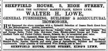 1889 July 8th Walter H Lowe @ No 5