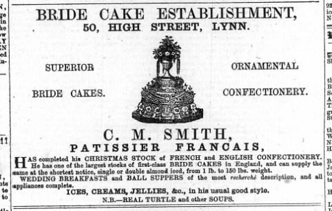 1873 Dec 20th C M Smith @ No 50