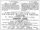 1887 Sept 10th Charles Winlove Smith @ No 50