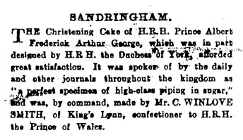 1896 7th March Winlove Smith 50