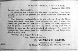 1905 Jan 13th Chas Winlove Smith