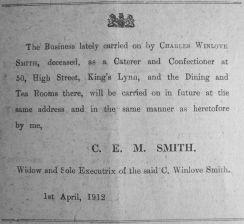 1912 Apr 13th Mrs C E M Smith continues