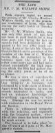 1931 Feb 20th obit C M Winlove Smith