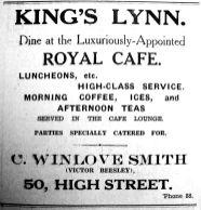 1934 Aug 17th Royal Cafe Victor Beesley