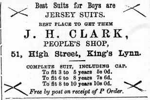 1884 Jan 5th J H Clark