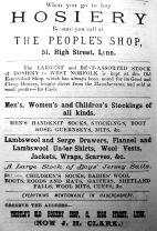1885 Lynn News Almanack J H Clark