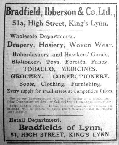 1925 July 31st Bradfields