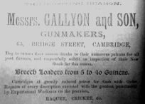 1884 Lynn News Gallyons @ Cambridge