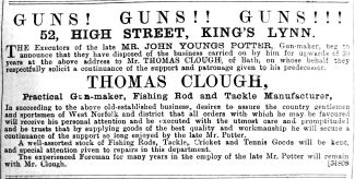 1892 July 2nd Thomas Clough Guns