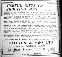 1947 Dec 9th Gallyon & Sons Ltd
