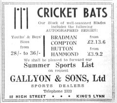 1950 May 19th Gallyon & Sons Ltd